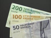 Δανικά κορώνα & x28 DKK& x29  σημειώσεις, νόμισμα της Δανίας & x28 DK& x29  Στοκ Εικόνες
