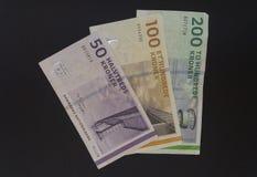 Δανικά κορώνα & x28 DKK& x29  σημειώσεις Στοκ εικόνες με δικαίωμα ελεύθερης χρήσης