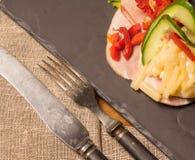 Δανικές ειδικότητες και εθνικά πιάτα, υψηλής ποιότητας ανοικτό σάντουιτς Στοκ Φωτογραφίες