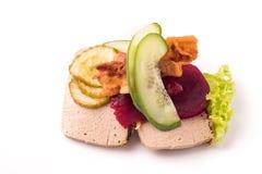Δανικές ειδικότητες και εθνικά πιάτα, υψηλής ποιότητας ανοικτό σάντουιτς Στοκ εικόνες με δικαίωμα ελεύθερης χρήσης