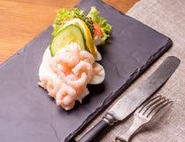 Δανικές ειδικότητες και εθνικά πιάτα, υψηλής ποιότητας ανοικτό σάντουιτς Στοκ Εικόνα