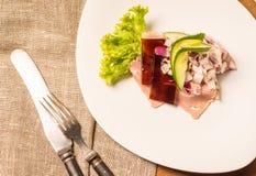 Δανικές ειδικότητες και εθνικά πιάτα, υψηλής ποιότητας ανοικτό σάντουιτς Στοκ εικόνα με δικαίωμα ελεύθερης χρήσης