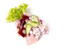 Δανικές ειδικότητες και εθνικά πιάτα, υψηλής ποιότητας ανοικτό σάντουιτς Στοκ Φωτογραφία