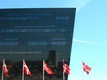 δανικές σημαίες Στοκ εικόνες με δικαίωμα ελεύθερης χρήσης