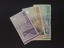 Δανικές σημειώσεις κορωνών (DKK), νόμισμα της Δανίας (DK) Στοκ εικόνες με δικαίωμα ελεύθερης χρήσης