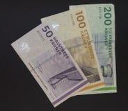 Δανικές σημειώσεις κορωνών (DKK), νόμισμα της Δανίας (DK) Στοκ εικόνα με δικαίωμα ελεύθερης χρήσης
