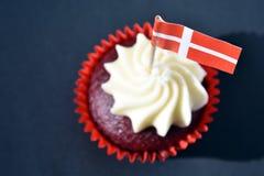 Δανική εθνική μέρα cupcake Στοκ φωτογραφίες με δικαίωμα ελεύθερης χρήσης