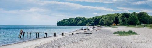 Δανική θερινή παραλία στοκ φωτογραφία με δικαίωμα ελεύθερης χρήσης