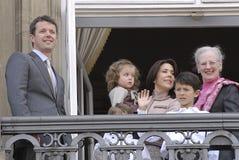 δανική οικογένεια της Δανίας βασιλική Στοκ Φωτογραφία