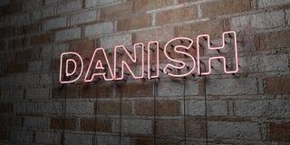 ΔΑΝΙΚΑ - Καμμένος σημάδι νέου στον τοίχο τοιχοποιιών - τρισδιάστατο δικαίωμα ελεύθερη απεικόνιση αποθεμάτων διανυσματική απεικόνιση
