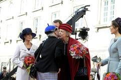ΔΑΝΙΚΑ ROYALS ΦΘΆΝΟΥΝ ΣΤΟ ΆΝΟΙΓΜΑ PARLIAMNT Στοκ φωτογραφία με δικαίωμα ελεύθερης χρήσης