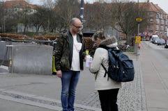ΔΑΝΙΚΗ ΗΜΕΡΑ ΣΥΛΛΟΓΗΣ ΚΑΡΚΙΝΟΥ Στοκ Φωτογραφίες