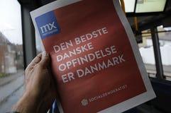 ΔΑΝΙΚΗ ΚΟΙΝΩΝΙΚΗ ΕΚΛΟΓΗ COMPAIGN ΔΗΜΟΚΡΑΤΩΝ Στοκ φωτογραφία με δικαίωμα ελεύθερης χρήσης