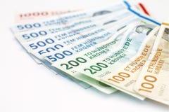Δανικοί λογαριασμοί κορωνών Στοκ Φωτογραφία