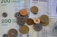 ΔΑΝΙΚΟ ΝΟΜΙΣΜΑ KRONERS Στοκ φωτογραφία με δικαίωμα ελεύθερης χρήσης