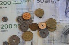 ΔΑΝΙΚΟ ΝΟΜΙΣΜΑ KRONERS Στοκ φωτογραφίες με δικαίωμα ελεύθερης χρήσης