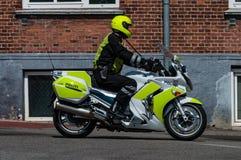 Δανικός αστυνομικός μοτοσικλετών Στοκ φωτογραφίες με δικαίωμα ελεύθερης χρήσης