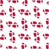 Δανικό άνευ ραφής σχέδιο σημαιών Στοκ Εικόνα