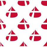 Δανικό άνευ ραφής σχέδιο σημαιών Στοκ Φωτογραφία