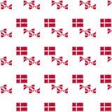 Δανικό άνευ ραφής σχέδιο σημαιών Στοκ Εικόνες