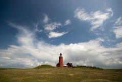 δανικό κόκκινο φάρων Στοκ εικόνες με δικαίωμα ελεύθερης χρήσης