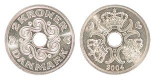 Δανικό νόμισμα κορωνών Στοκ εικόνα με δικαίωμα ελεύθερης χρήσης
