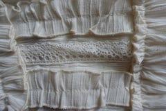 Δαντέλλα και διακοσμητικά στοιχεία που χρησιμοποιούνται για τη διακόσμηση του ιματισμού Στοκ φωτογραφία με δικαίωμα ελεύθερης χρήσης
