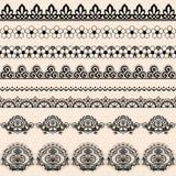 Δαντέλλα βουρτσών διανυσματική απεικόνιση