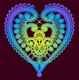 Δαντέλλα Καρδιά δέντρο απεικόνισης συνδετήρων ανθών τέχνης Στοκ φωτογραφία με δικαίωμα ελεύθερης χρήσης