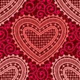 Δαντέλλα κόκκινος άνευ ραφής προτύπων Στοκ Φωτογραφίες