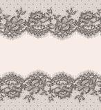 Δαντέλλα πρότυπο άνευ ραφής Στοκ εικόνα με δικαίωμα ελεύθερης χρήσης