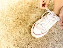 Δαντέλλες παπουτσιών Στοκ φωτογραφία με δικαίωμα ελεύθερης χρήσης