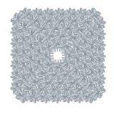 Δαντελλών συρμένο χέρι τετράγωνο υποβάθρου στοιχείων σχεδίου πλαισίων διανυσματικό διακοσμητικό απεικόνιση αποθεμάτων