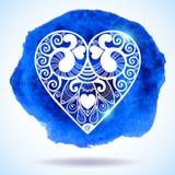 Δαντελλωτός χαιρετισμός καρδιών εγγράφου ημέρας του διανυσματικού βαλεντίνου Στοκ εικόνες με δικαίωμα ελεύθερης χρήσης