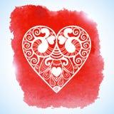 Δαντελλωτός χαιρετισμός καρδιών εγγράφου ημέρας του διανυσματικού βαλεντίνου Στοκ φωτογραφίες με δικαίωμα ελεύθερης χρήσης