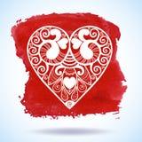 Δαντελλωτός χαιρετισμός καρδιών εγγράφου ημέρας του διανυσματικού βαλεντίνου Στοκ φωτογραφία με δικαίωμα ελεύθερης χρήσης