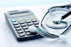 Δαπάνες υγειονομικής περίθαλψης Στοκ Εικόνες