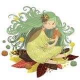 Δασικά φύλλα φθινοπώρου νεράιδων νεράιδων διανυσματική απεικόνιση