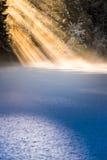 Δασικές ηλιαχτίδες λιμνών Στοκ Εικόνες