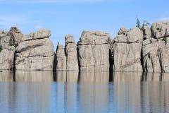 Δασική λίμνη στη νότια Ντακότα κρατικών πάρκων Custer στοκ εικόνα με δικαίωμα ελεύθερης χρήσης