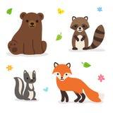 Δασική διανυσματική απεικόνιση ζώων απεικόνιση αποθεμάτων