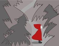 δασική κόκκινη οδήγηση κ&omicro Στοκ Εικόνες