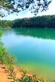 Δασική λίμνη με το σμαραγδένιο νερό όμορφο ύδωρ τοπίων Στοκ εικόνες με δικαίωμα ελεύθερης χρήσης
