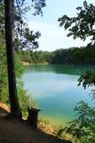 Δασική λίμνη με το σμαραγδένιο νερό όμορφο ύδωρ τοπίων Στοκ Φωτογραφίες