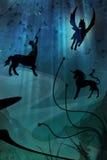 δασική μαγική νύχτα Στοκ φωτογραφίες με δικαίωμα ελεύθερης χρήσης