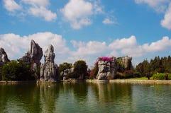δασική πέτρα yunnan Στοκ Εικόνα