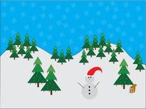 Δασική σκηνή Χριστουγέννων Στοκ εικόνα με δικαίωμα ελεύθερης χρήσης