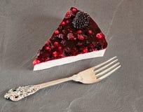 Δασική φέτα κέικ Panna Cotta φρούτων στοκ εικόνες
