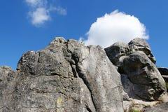 Δασικός βράχος του Φοντενμπλώ Στοκ Εικόνες