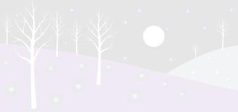 δασικός χειμώνας διανυσματική απεικόνιση